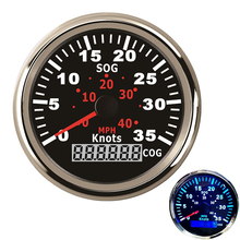 12V / 24V  85mm GPS Speedometer  Waterproof For Car Motorcycle Boat Yacht Vessel with Blue Backlight цена