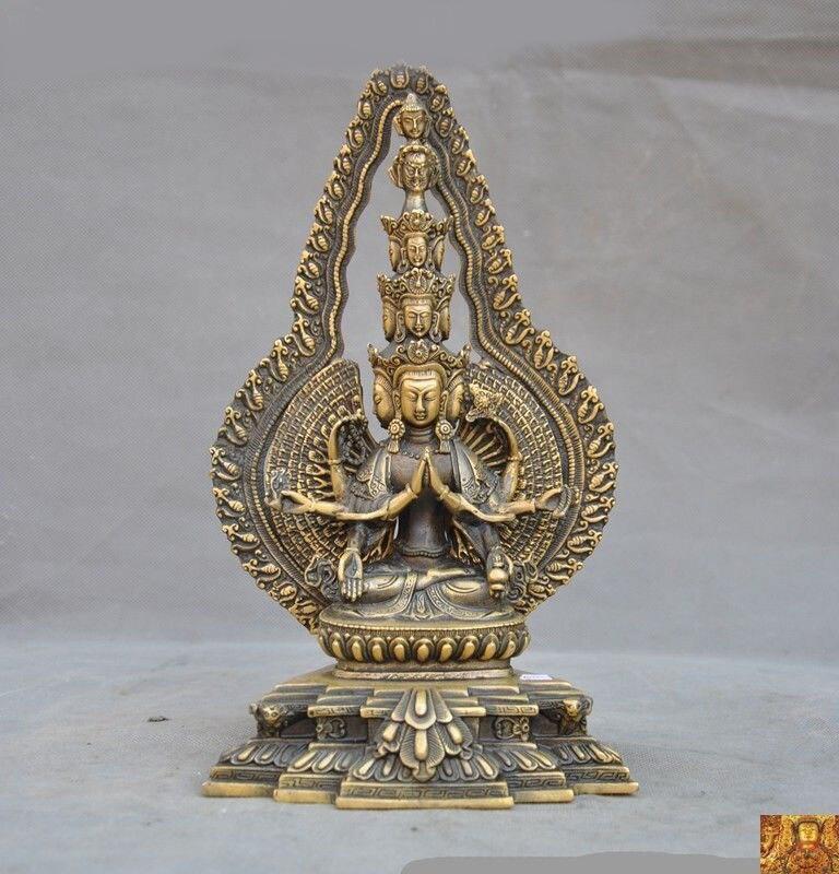 wedding decoration Tibet temple bronze sit 1000 arms Avalokitesvara Kwan-Yin GuanYin Buddha statuewedding decoration Tibet temple bronze sit 1000 arms Avalokitesvara Kwan-Yin GuanYin Buddha statue