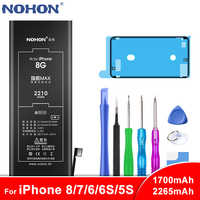 NOHON Battery For Apple iPhone 8 7 6 6S 5S Bateria For iPhone6 iPhone7 iPhone8 Max Capacity Phone Replacement Batarya Free Tools