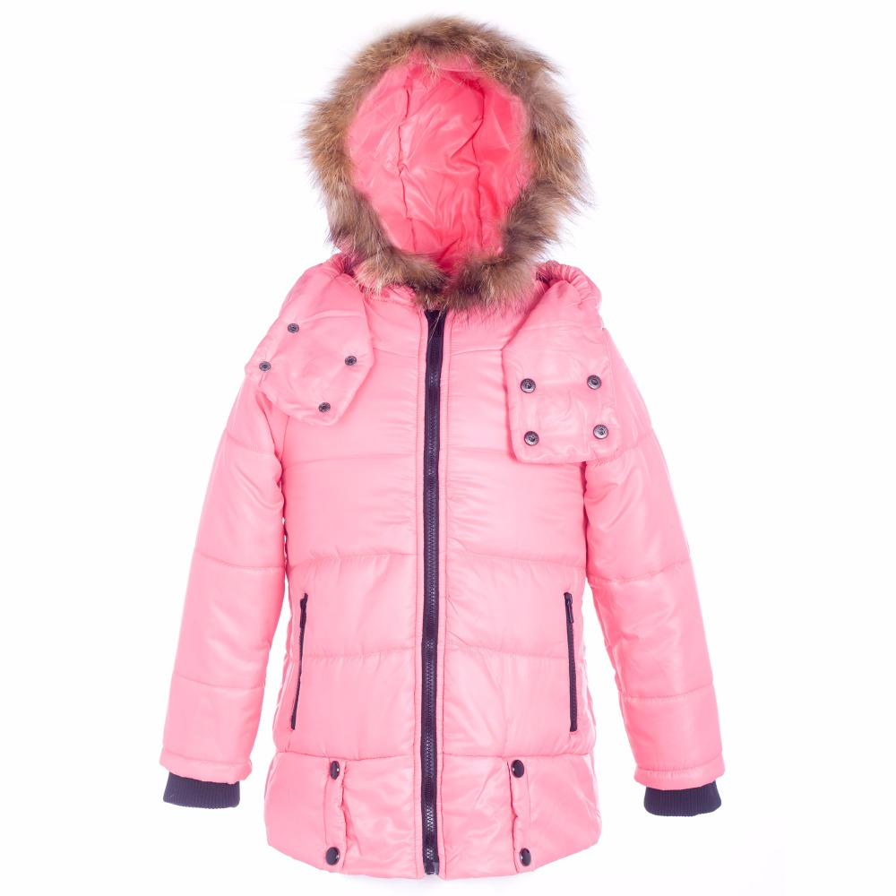 ФОТО 2016 Fashion Girl's Down jackets/coats winter Russia baby Coats thick duck Warm jacket Children Outerwears