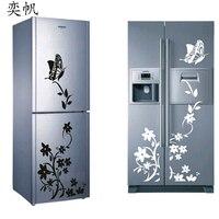 High Quality Butterfly Flower Vine Refrigerator Sticker Wall Decals Art Mural Wall Sticker Kitchen Living