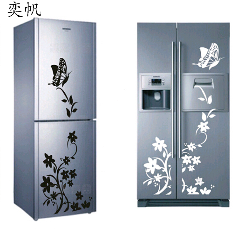 High Quality Wall Sticker Creative Refrigerator Sticker Butterfly Pattern Wall Stickers Home Decor Wallpaper