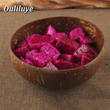 Vintage Natural Coconut Shell Bowl Candy Fruit Table Storage Section Ink Creative Ornament Handicraft Decor
