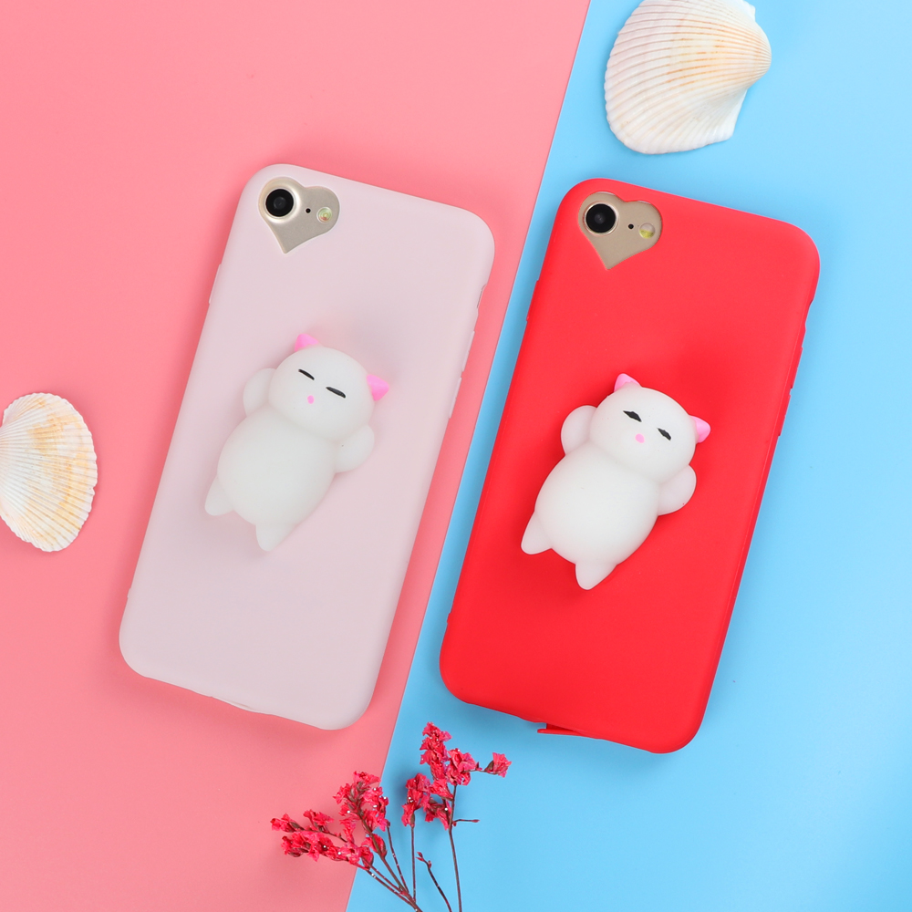 Iphone 6 squishy case - Love Heart Candy Color Squishy 3d Toys Phone Case For Iphone 6 6s 7 Plus 5 5s Case Cover Funny Cartoon Cat Seal Soft Cases On Aliexpress Com Alibaba Group