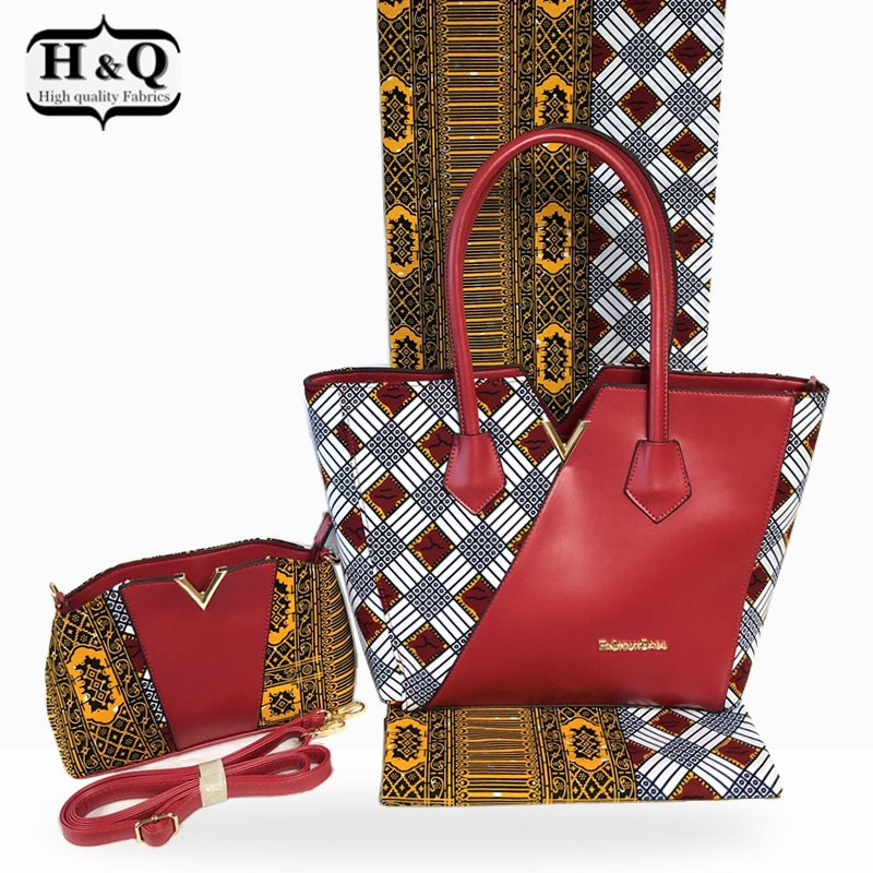 H Q New arrival african wax bag set high quality 6 yards pcs african real wax