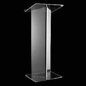 Free Shipping Fixture Displays Acrylic Podium With Slant Large Reading Surface Reception Desk Office Furniture