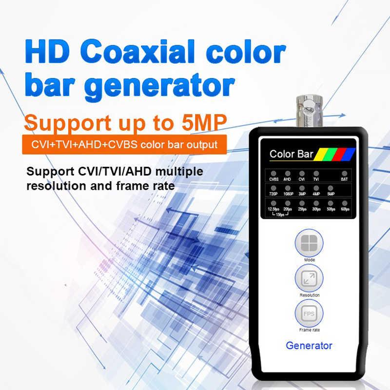 Генератор цветной панели 4MP CVI/5MP TVI/5MP AHD + CVBS выход с VT-4800 поддержка PAL/NTSC Выход и кабель/линия обнаружения