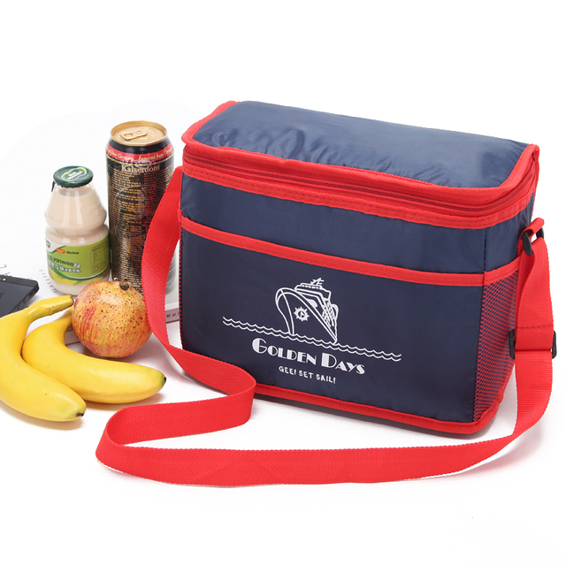 9l Cooler Bag Insulated Thermal Picnic Lunch Box Can Holder Ice Pack Thermo Insulation Shoulder