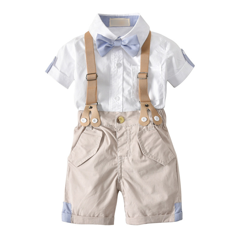 toddler boys clothing set summer shirt boy +pants 2pcse first birthday party boy formal children clothes 1-4Y ...