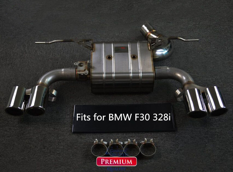 CATBACK EXHAUST MUFFLER SYSTEM FOR BMW F30 320i 328i 2.0T WITH M-TECH BUMPER Or M3 BUMPER STAINLESS STEEL 304