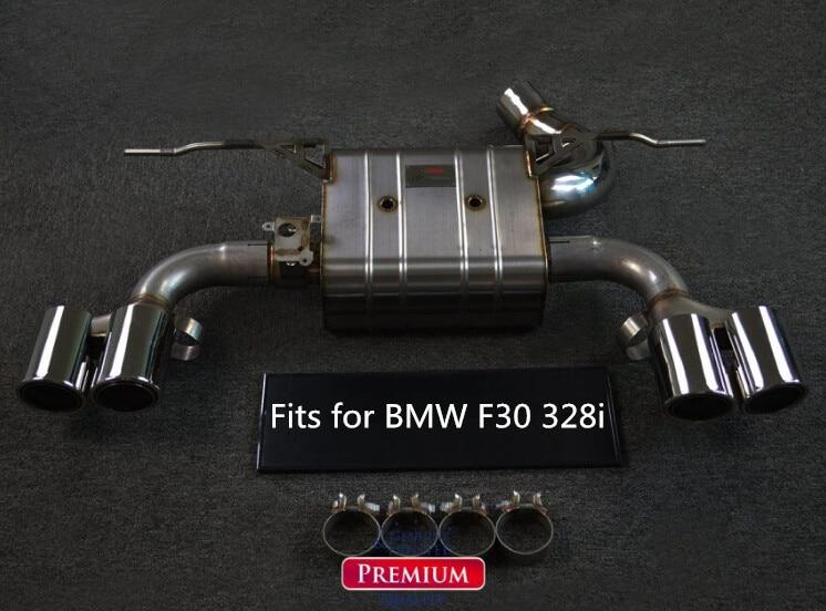 Otomobiller ve Motosikletler'ten Egzoz Montaj'de CATBACK egzoz susturucu sistemi için BMW F30 320i 328i 2.0T M TECH tampon veya M3 tampon paslanmaz çelik 304 title=