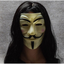 Лидер продаж Белый/Золотой/Серебряный/Желтый V для вендетты Guy Fawkes маска аноним Хэллоуин Косплей костюмы вечерние принадлежности