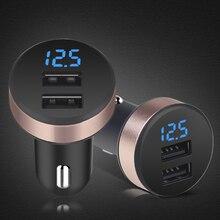5 в 2.1A Универсальный 2 порта USB прикуриватель вольтметр зарядное устройство ЖК-дисплей автомобильное зарядное устройство адаптер питания для смартфона планшета
