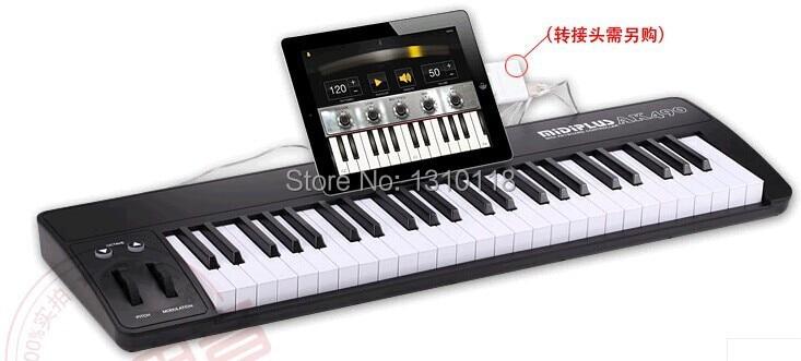 midiplus ak490 brief 49 key usb ipad midi keyboard for pc mac controller music keyboard. Black Bedroom Furniture Sets. Home Design Ideas