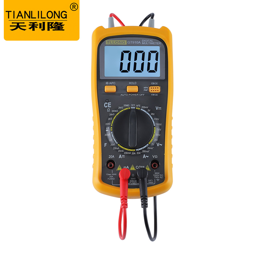 Best Handheld Lcd Multimetro Electric Digital Multimeter Circuit Related Image With Voltmeter Meter Ac Dc Ammeter Ohm Buzzer Gt910a In Multimeters From Tools On