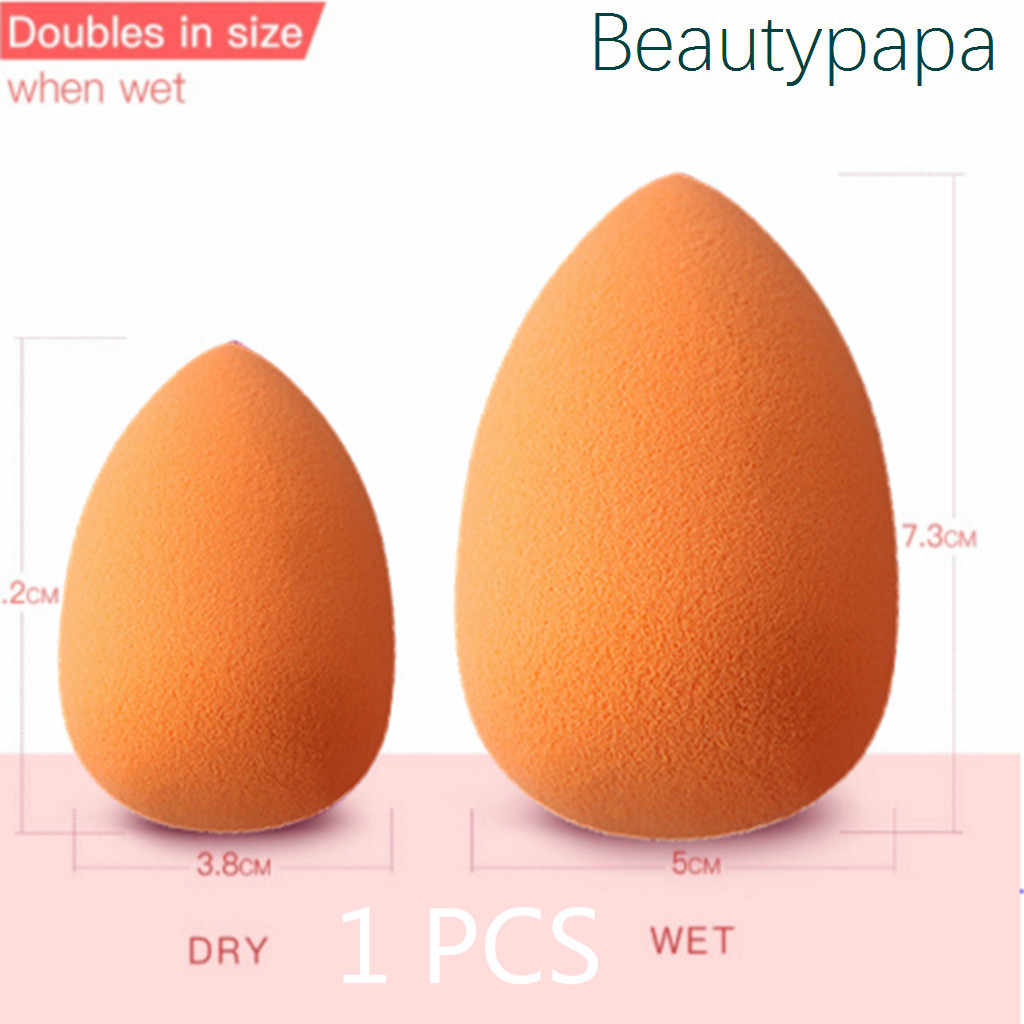 BeautyPaPa Orange Makeup Blender Super Soft Cosmetic Puff Sponge For Make up Powder Smooth Liquid Concealer Applicator