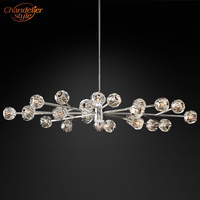 Boule De Cristal Oval Chandelier Lighting Modern Vintage Crystal Chandelier Pendant Hanging Light Fixtures Restaurant Lighting