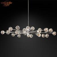Boule De Cristal Oval Chandelier Lighting Modern Vintage Crystal Chandelier Pendant Hanging Light Fixtures Restaurant Lighting