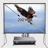 Высокое качество 200 дюймов стены стенда быстро сложить спереди проектор Экран 4065x3046 мм для просмотра Экраны для фильма дворе