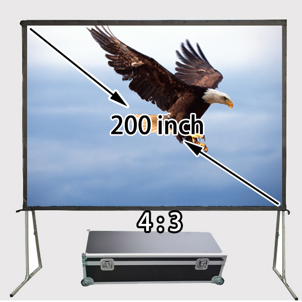 High Quality 200 Inch Wall Stand Fast Folded Front Projector Screen 4065x3046mm Viewable Screens For Backyard Movie лобзик союз лбс 4065