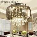 Европейский стиль Минималистичная современная стеклянная люстра гостиная столовая американская Ретро креативная Хрустальная люстра