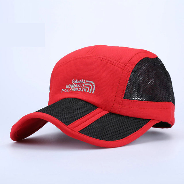 47eb264342e8c Moisture-Wicking Baseball Caps Manaslu Outdoor Sunscreen Sports Net Hat For Men  Female Breathable Fitness