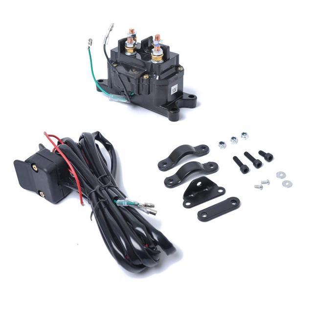 12V 250A Contactor Relay Winch Contactor Electric Winch Solenoid Relay Replacement Switch For ATV UTV Truck Boat
