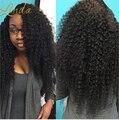 8А Бразильский Странный Вьющиеся 3 Пучки Богемный Вьющиеся Tissage Bresilienne Бразильского Странный Вьющиеся Человеческие Волосы Девственницы Афро Кудрявый Вьющиеся