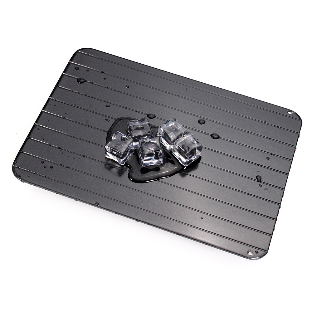 Fast Defrosting Meat Tray Frozen Food Meat Rapid Thawing Tray - Defrosting Board - Food-safe Aluminium - Kitchen Accessories