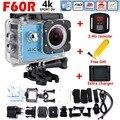 Hot sale F60/F60R Ultra HD 4 K Câmera de Ação Wi-fi 2.0 tela de 170 polegadas wide lens 30 m à prova d' água ação cam gopro hero 4 estilo