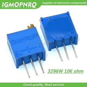 100 pçs/lote 3296W-1-103LF 3296W 103 K ohm 10 Top regulamento Multiturn Trimmer Potenciômetro de Alta Precisão Resistor Variável