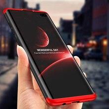 GKK OrIginal Case for Samsung Galaxy S10 Plus 3 In 1 Design anti-knock Matte Hard PC Cover 5G case Coque