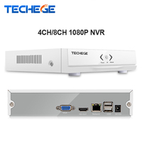Techege חדש מיני NVR 4CH 8CH NVR HD מלא 1920*1080 P P2P ONVIF 2.0 עבור IP המצלמה HDMI רשת מקליט וידאו