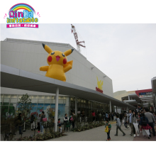 Inflatable pokemon cartoon character pikachu used for advertising outdoor