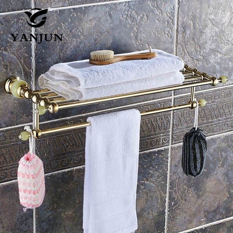 YANJUN High Quality Fashion Brass   Towel Racks Towel Holder Bathroom Accessories  For Home YJ-8160 aj141005 retro stylish bathroom soap holder dish red brass
