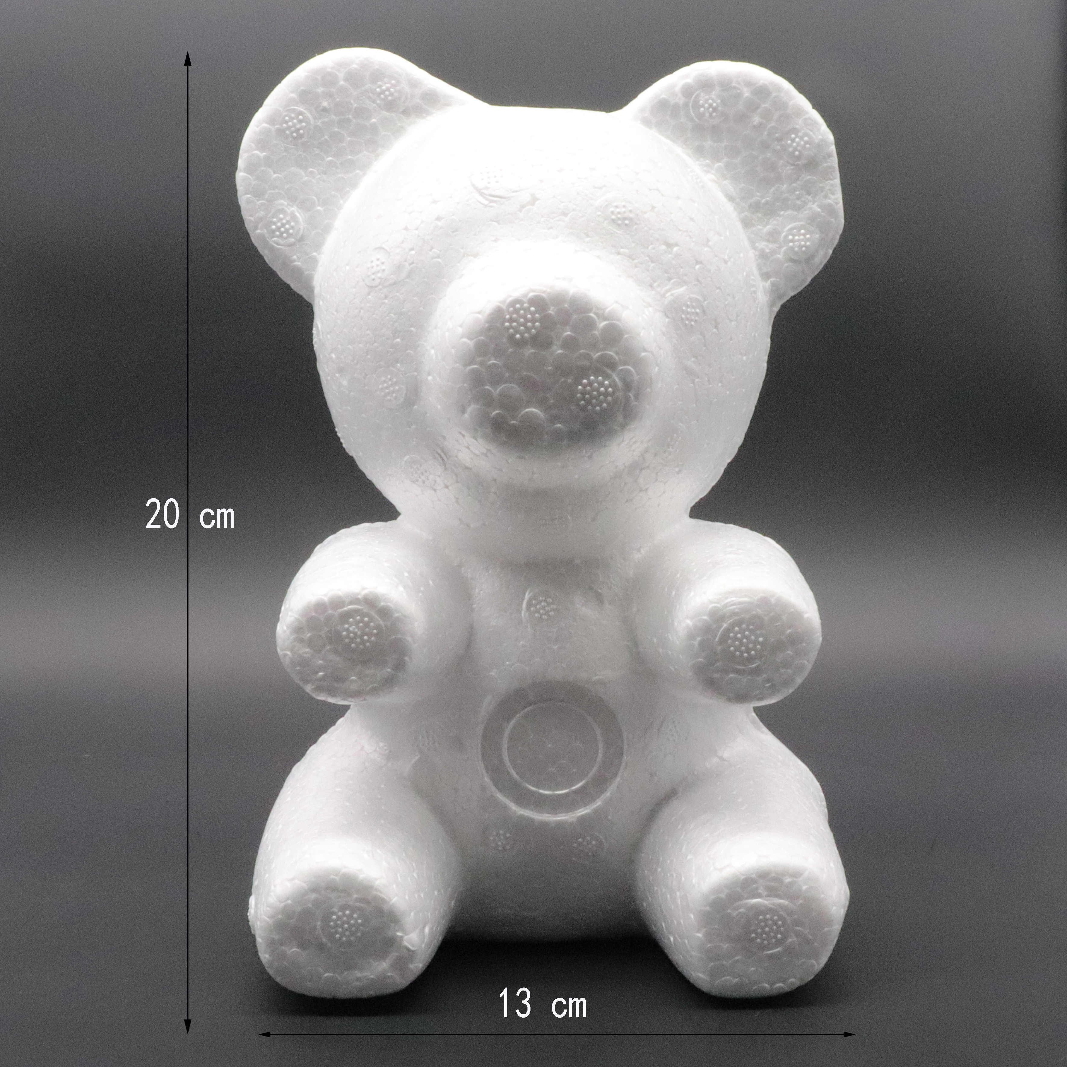 1 pièces 150mm/200mm modélisation polystyrène polystyrène mousse ours blanc artisanat boules pour bricolage fête de noël décoration fournitures cadeaux
