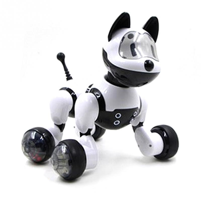 2018 NEW PINK/BLACK SMART KIDS TOY DOG/CAT INFRARED REMOTE CONTROL SERIES RC CUTE ROBOT цена и фото