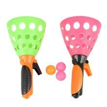 1 пара забавных игрушек для бросания и ловля мяча, игрушки для родителей и детей, интерактивные игрушки для ловли мяча, игрушки для детей для занятий спортом на открытом воздухе