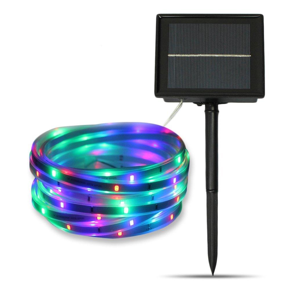 Led Solar Strip Lights Multi Color White 5 Meters Flexible