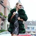 The new raccoon fur vest female real fur coat 2016 winter warm female fashion coat fur vest jacket