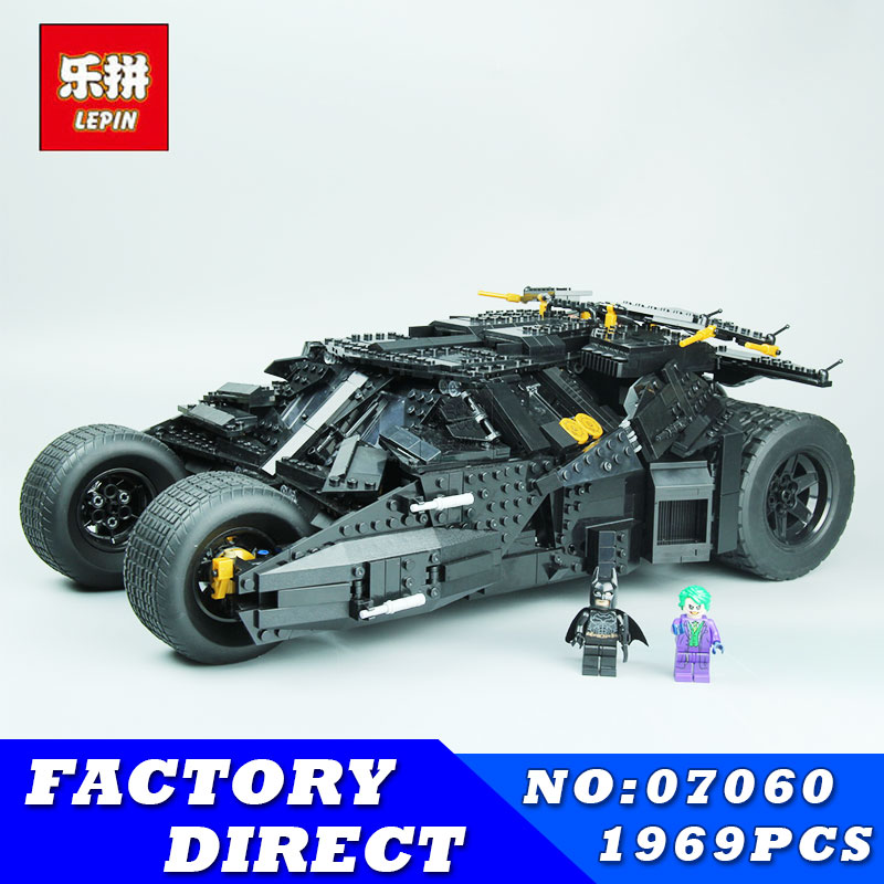 LEPIN 07060 1969Pcs NEW Super Hero Movie Series Batman Armored Chariot Set Building Blocks Bricks for Children Toys Gift 76023 hot compatible legoinglys batman marvel super hero movie series building blocks robin war chariot with figures brick toys gift