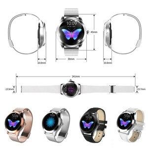 Image 5 - IP68 Orologio Intelligente Impermeabile Donne Monitoraggio del Sonno Monitor di Frequenza Cardiaca di Modo Lonvely Braccialetto KW10 Smartwatch Per Android IOS