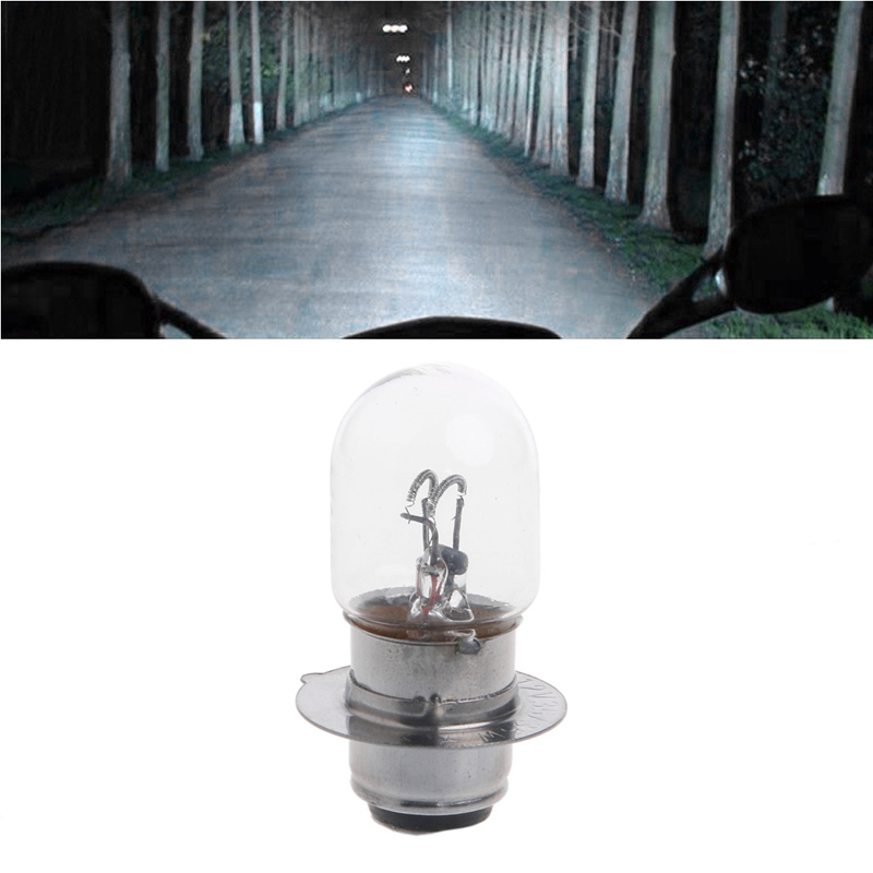 QILEJVS T19 P15D-25-1 DC 12V 35W White Headlight Double Filament Bulb For Motorcycle