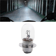 QILEJVS T19 P15D-25-1 DC 12V 35W White Headlight Double Filament Bulb For Motorcycle(China)