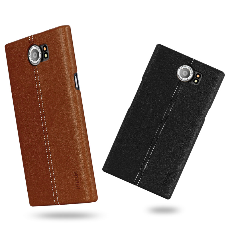 wholesale dealer d58d9 94cd5 US $8.6 |Luxury PU Leather Back Cover For BlackBerry Priv Case 5.4'' IMAK  Brand For BlackBerry Venice Phone Case with Retail package -in Fitted Cases  ...