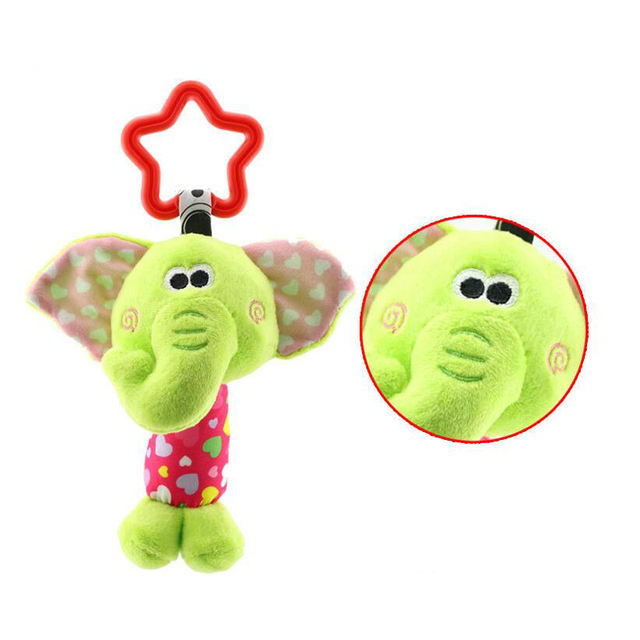 Baby Rattle My First Tinkle Trio Hand Bell Multifunctional Plush Toy