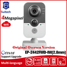 Hik DS-2CD2442FWD-IW(2.8mm) OEM Original English Version IP Camera 2MP Support POE WIFI Mini Camera IP Camera P2P Onvif