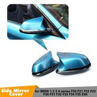 F30 Carbon Look Mirror Cover M3 M4 Look For BMW F20 X1 E84 M2 F87 F32 F33 F36 F22 F34 M235i Rear View Mirror Cover gloss black