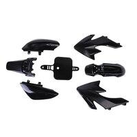 VODOOL Siyah Plastik Fairing Kapak İçin Honda CRF XR 50 CRF 125cc SSR PRO Pit Dirt Bike Dış Aksesuarlar Yüksek kalite