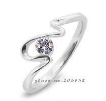 New Ring 2012 For Women Ring 925 Zircon Sets Jewelry 925 Pure Sterling Silver Gift White Zircon Free Shipping